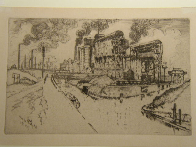 Mond Gas Dudley Port By Joseph Pennell Diverse Ayres